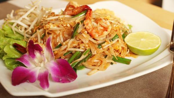 Pad thaï sauté aux crevettes - Siam House, Paris