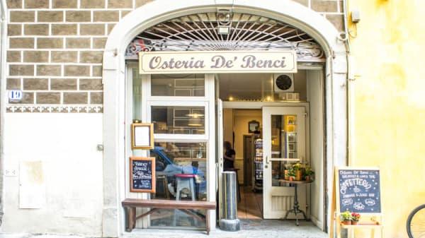 Entrata - Osteria dei Benci, Florence