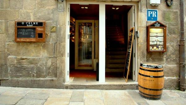 Vista entrada - O Celme do Caracol, Santiago de Compostela