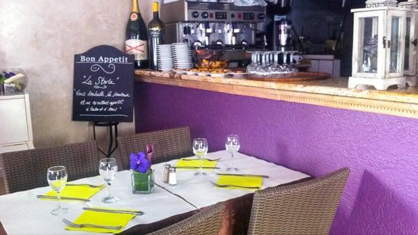table dressée - La Storia, Antibes