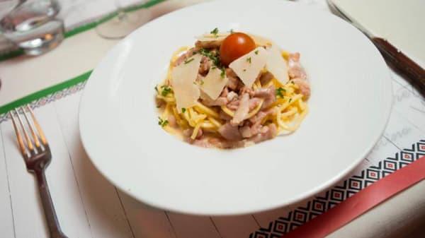 Spaghettis alla cabonara - Café Italien - EURL BOWLING ATLANTIS, Saint-Herblain