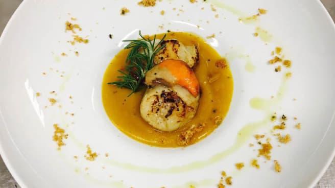 Capesante piastrate su crema di zucca - Pescheria Bistrot Fish Corner, Cusano Milanino