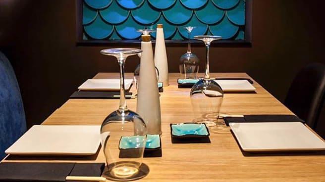 Detalle mesa - Moss Sushi - Palamós, Palamos