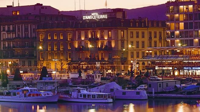 Devanture - Hotel d'Angleterre - Afternoon Tea, Genève