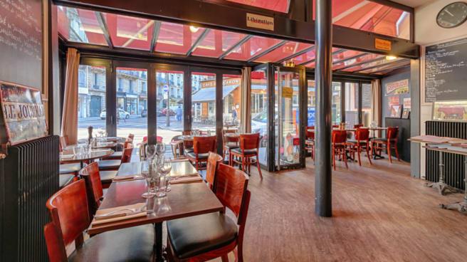 Salle du restaurant - le Bistrot à Deux Têtes, Paris