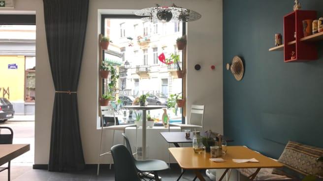 Salle du restaurant - Fourchette à Bicyclette, Ixelles