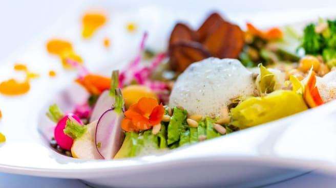 Assiette Vegan - la Villa Andry / (anc. le St-Georges), Ouistreham