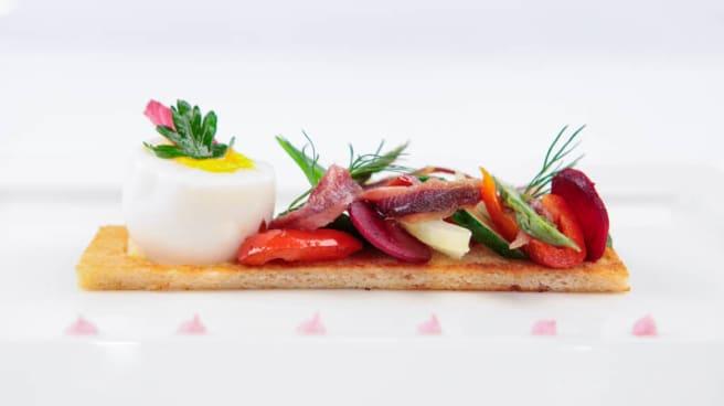 Oeuf , anchois et légumes - Gourmandine, Toulouse