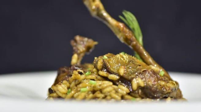 Arròs cremós de colomí amb el seu propi foie - Baena