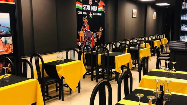 Sala del restaurante - Star India, Barcelona
