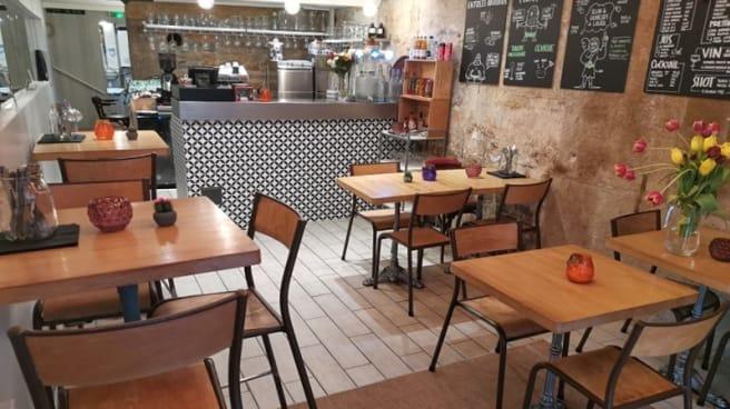La petite salle du RdC et le bar - La Taqueria de Masa, Lyon