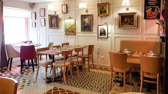 Salon du restaurant - Casa Botticelli, Paris