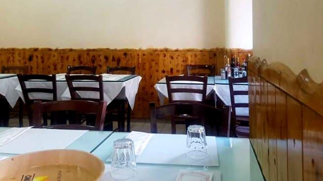 Particolare della sala - ristorante pizzeria del King, Milano