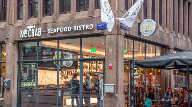 Ingang - Mr.Crab Burger Bistro, Amsterdam