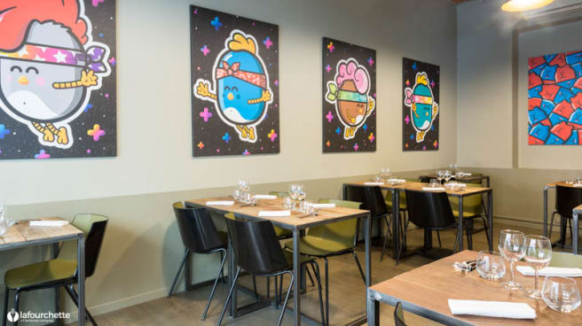 Salon du restaurant - Aromatic, Lyon
