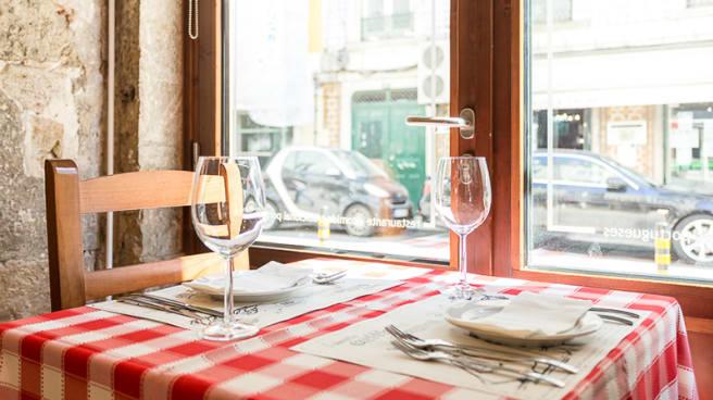 Detalhe da mesa - Maria Catita, Lisboa
