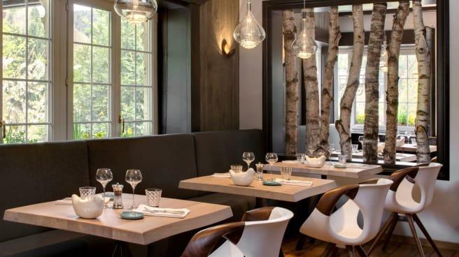 Salle de restaurant - La Cheneaudière - Relais & Châteaux