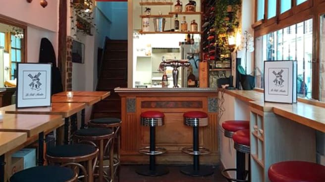 Salle du restaurant - Le Petit Moulin, Paris