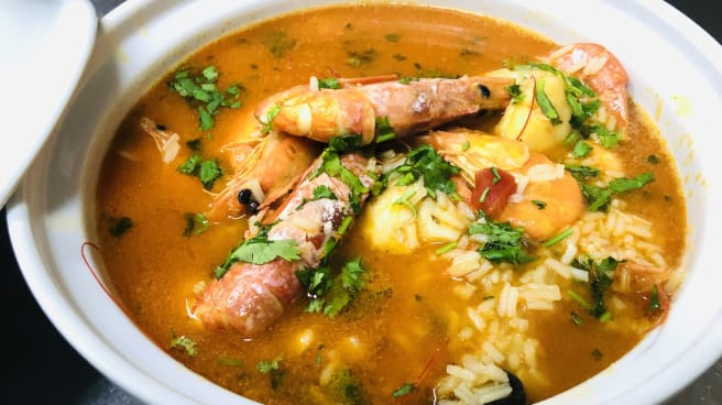 Arroz de Tamboril c/ Gambas - Restaurante Delfim, Braga