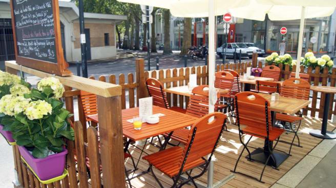 zoom sur la terrasse - Restaurant Le Breca, Nantes