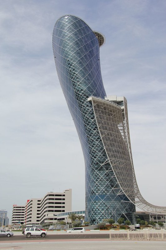 Capital Gate Tower by RMJM Architects
