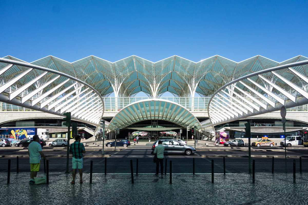 East entrance to the Oriente Station