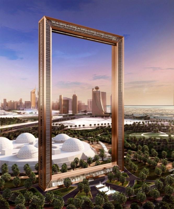 Dubai Frame rendering