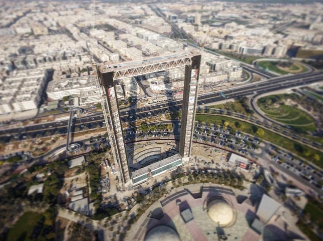 Dubai Frame in construction