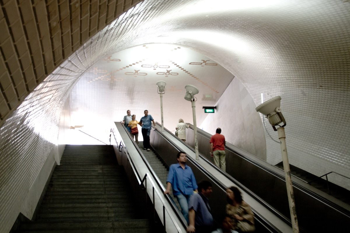 Baixa/Chiado subway station by Alvaro Siza