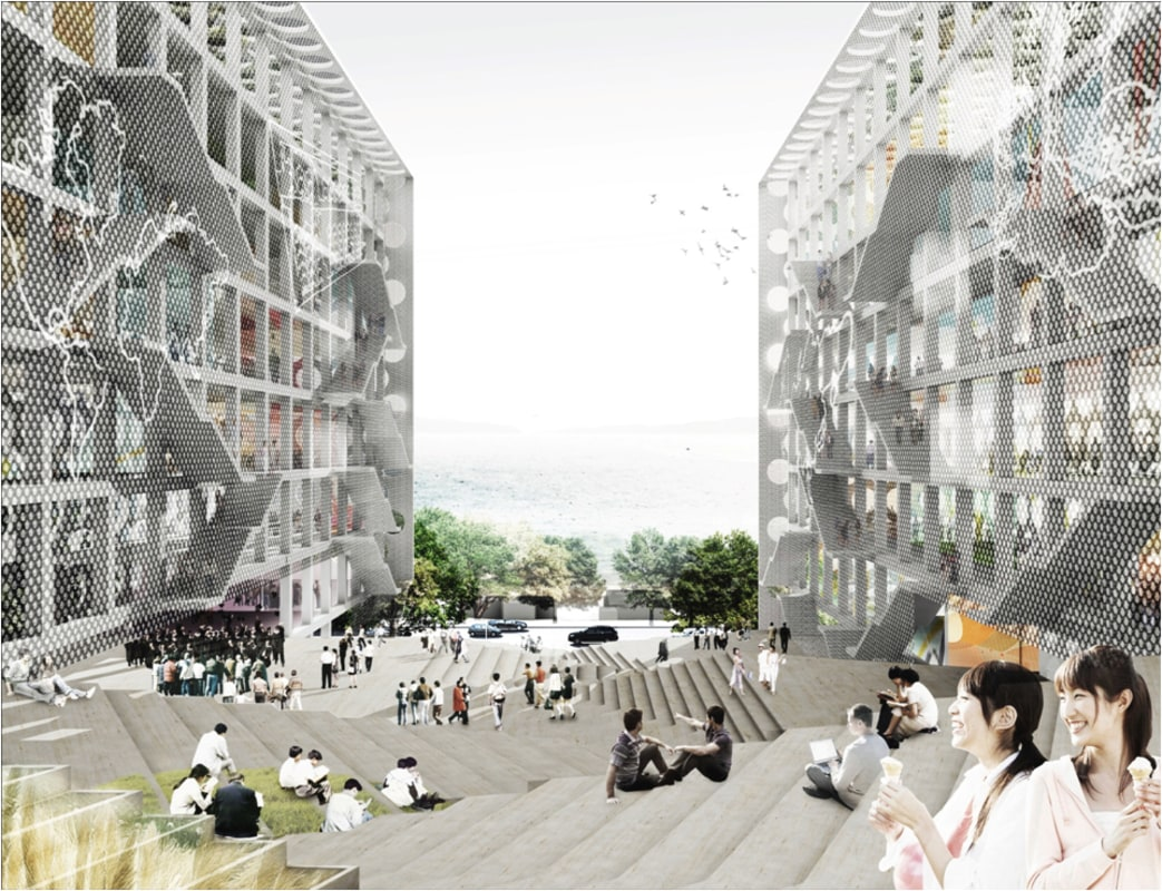Chu Hai College Campus proposal by OMA