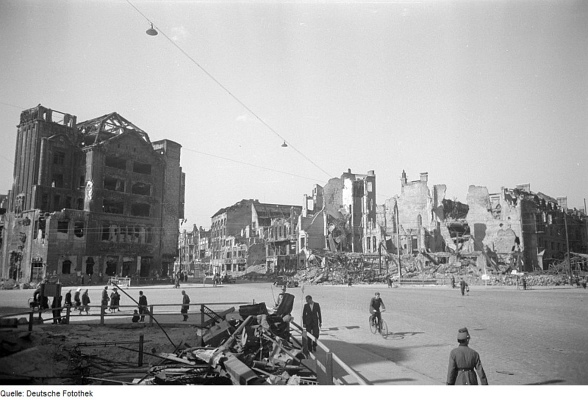 Destruction on Potsdamer Platz after the War