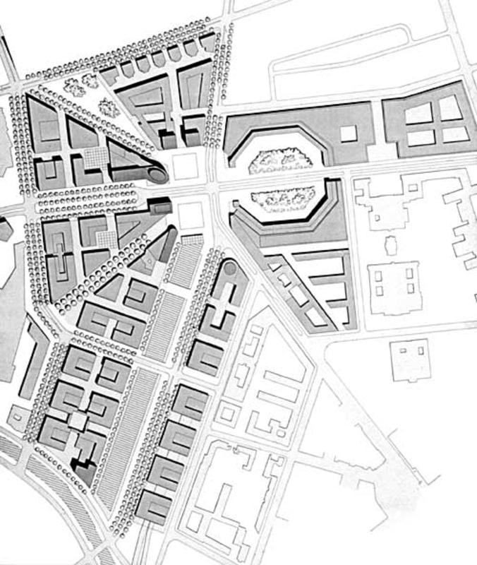Plan for the reconstruction of Potsdamer Platz by Hilmer Sattler