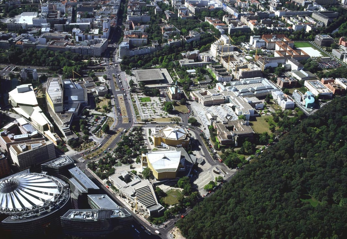 Aerial view of the Kulturforum