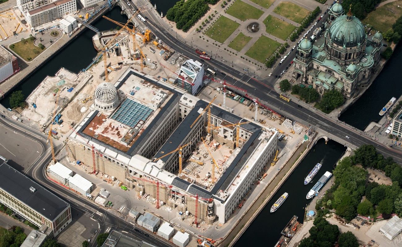 "Construction site of the ""new"" Berlin Palace"