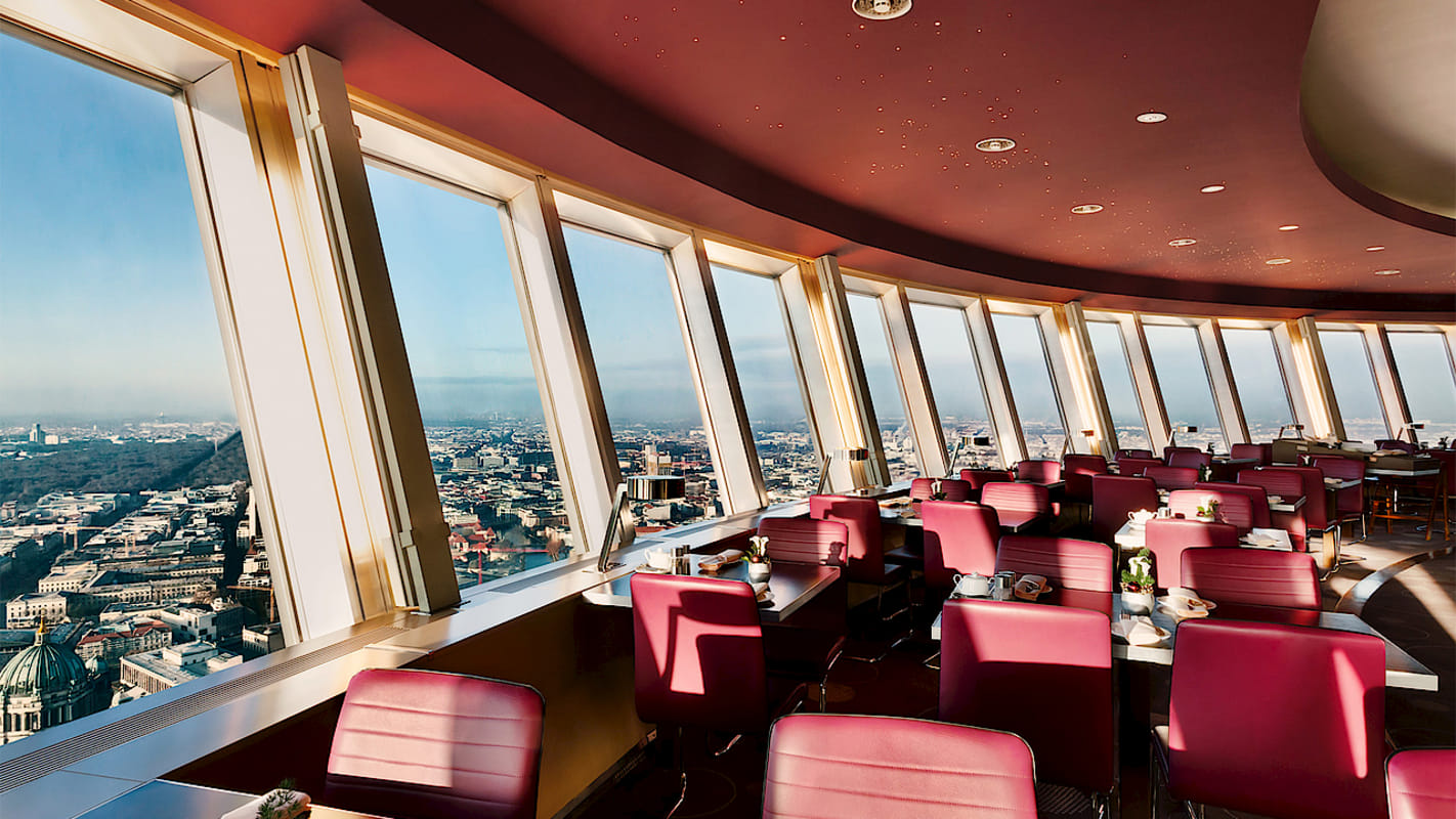 The restaurant in the Berlin TV Tower