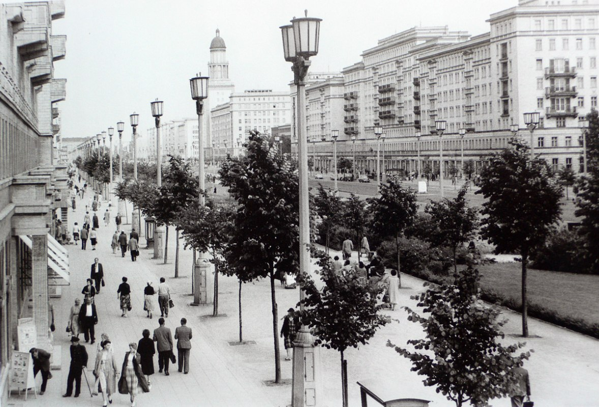 Karl-Marx Allee in the 70s