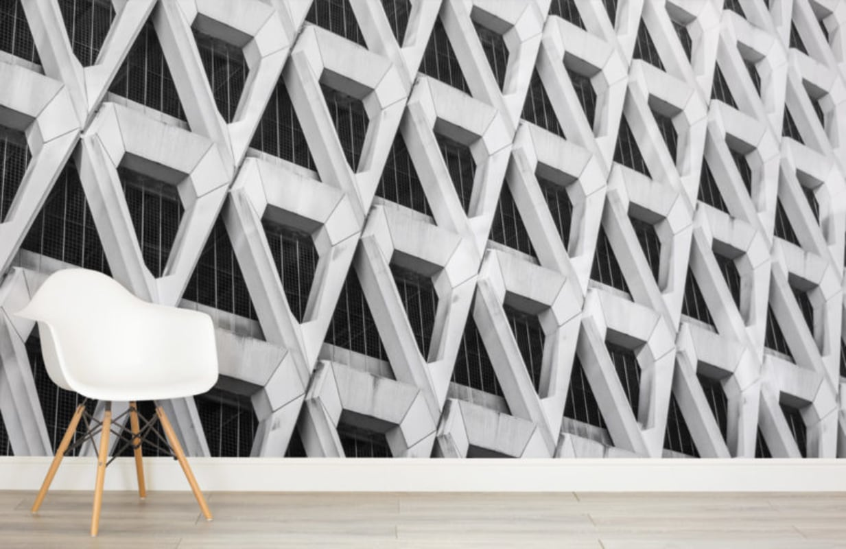 Brutalist wallpaper mural