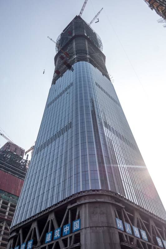China Zun Tower, when it was still 391 m high