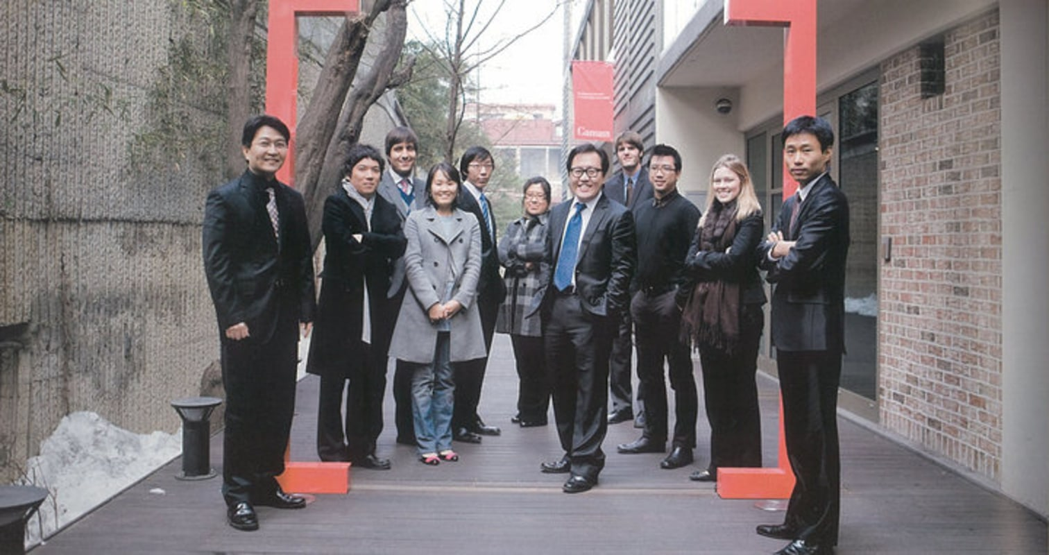 The G.Lab* team at Gansam Partners. Yes, I had to work in a suit and tie every single day.
