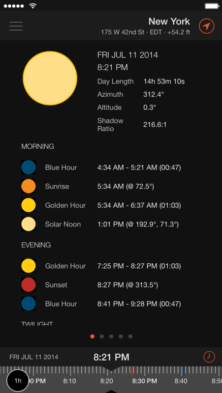 Sun Surveyor App Screen