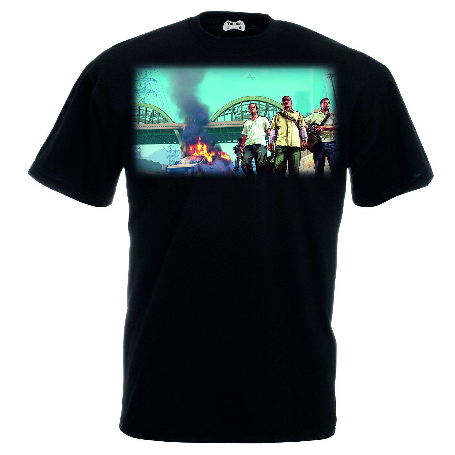 Grand Theft Auto V T-Shirt All Three