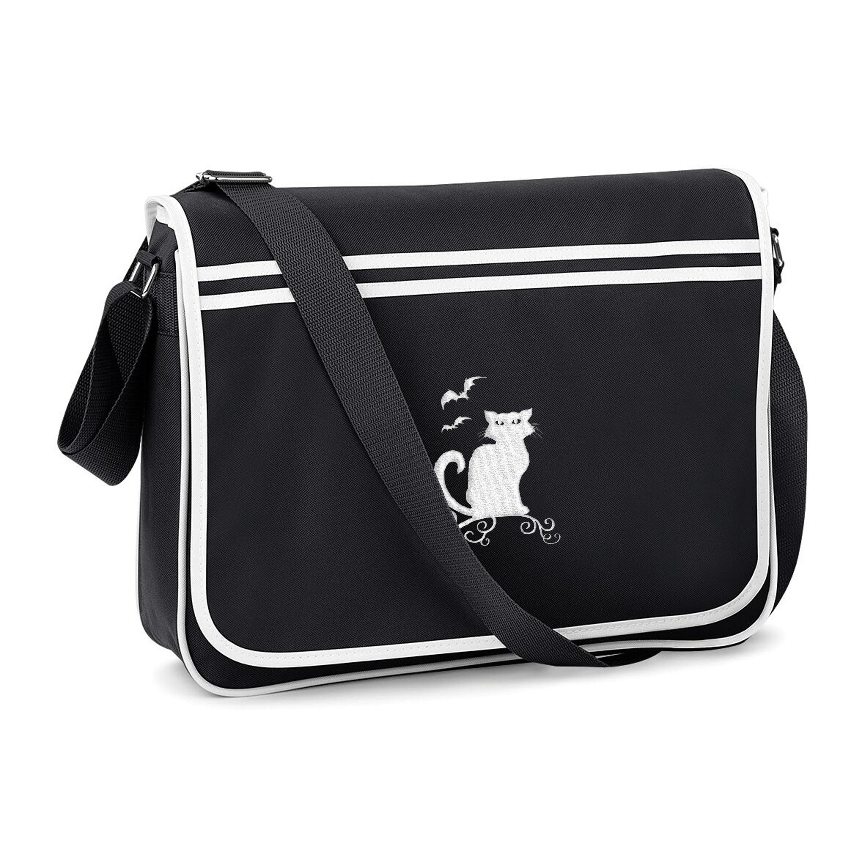 Halloween Cat Messenger Bag