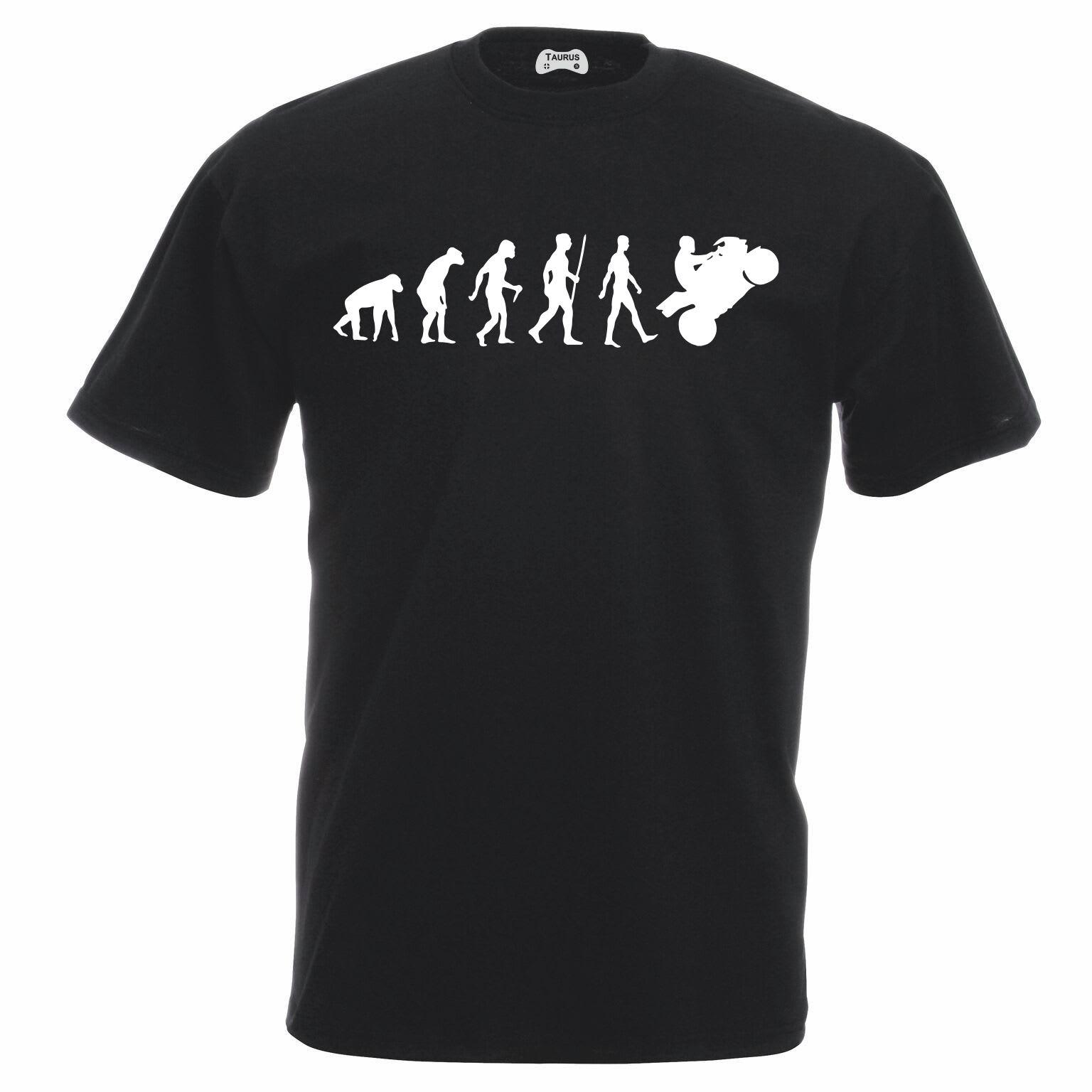 Evolution Of A Biker T-Shirt