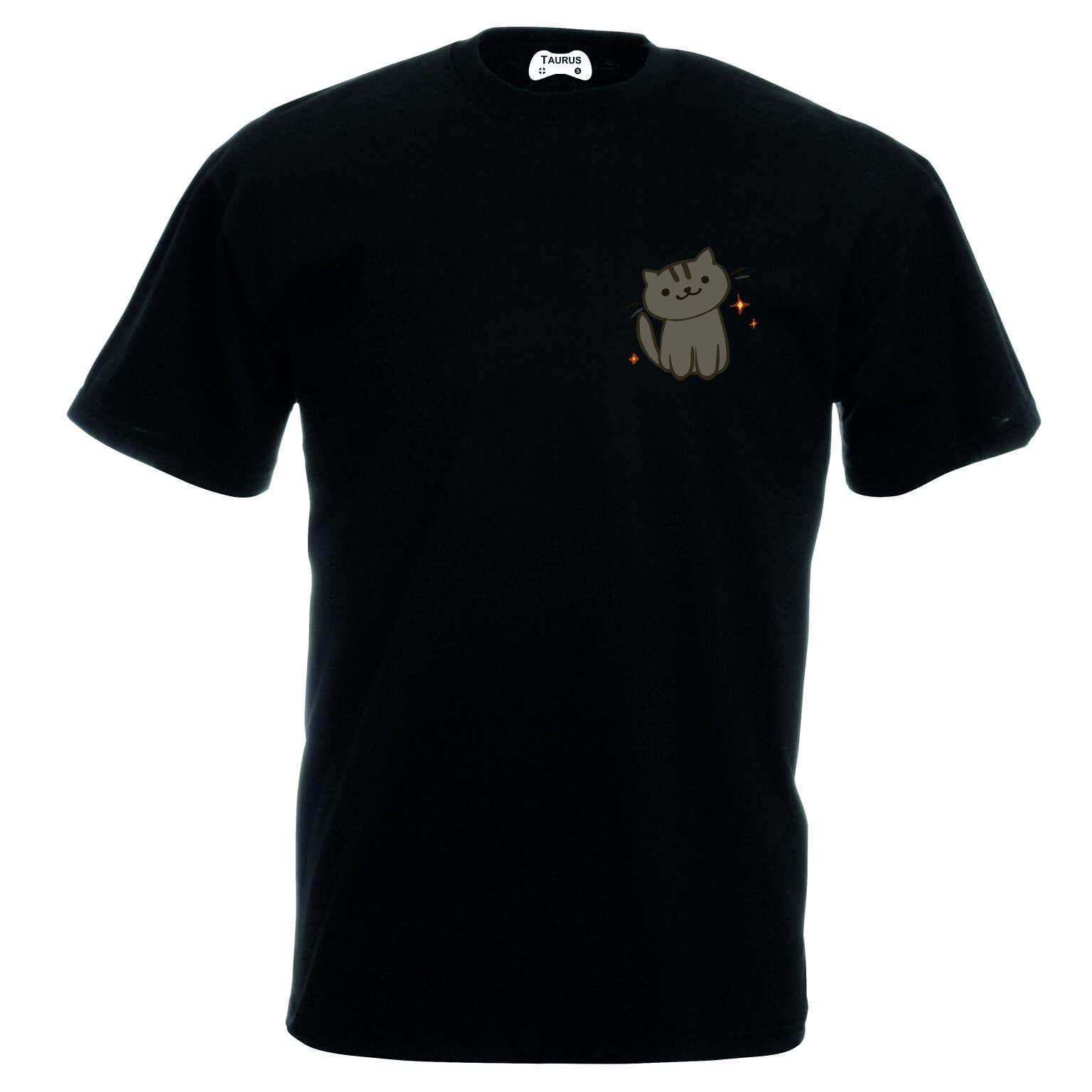 Cat T-Shirt Pocket