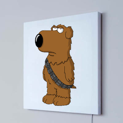 Family Guy Brian As Chewbacca Canvas