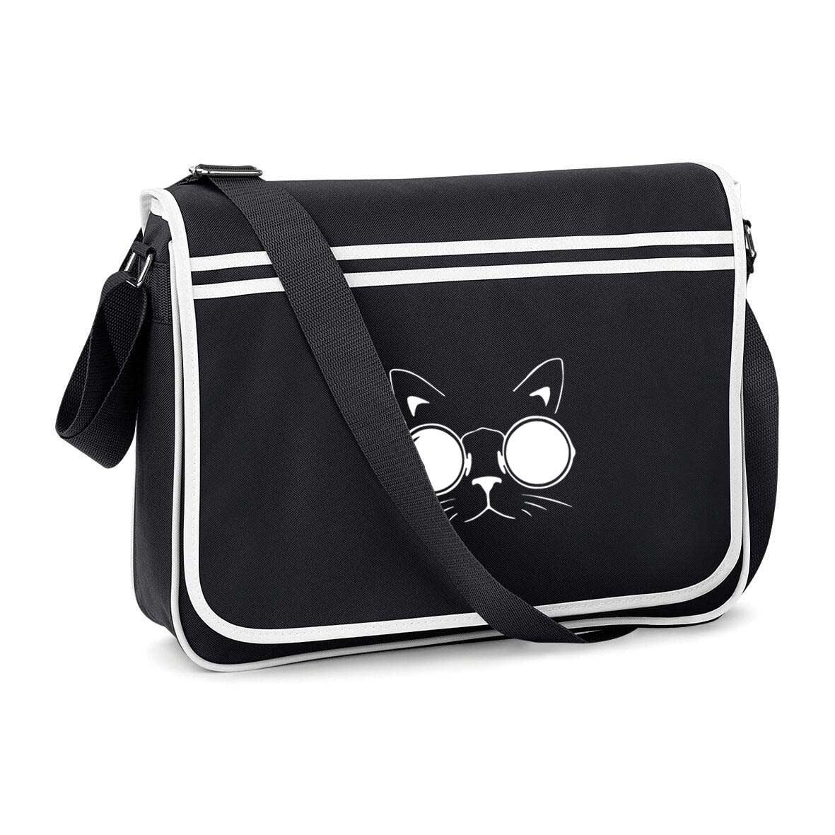 Cat Glasses Messenger Bag
