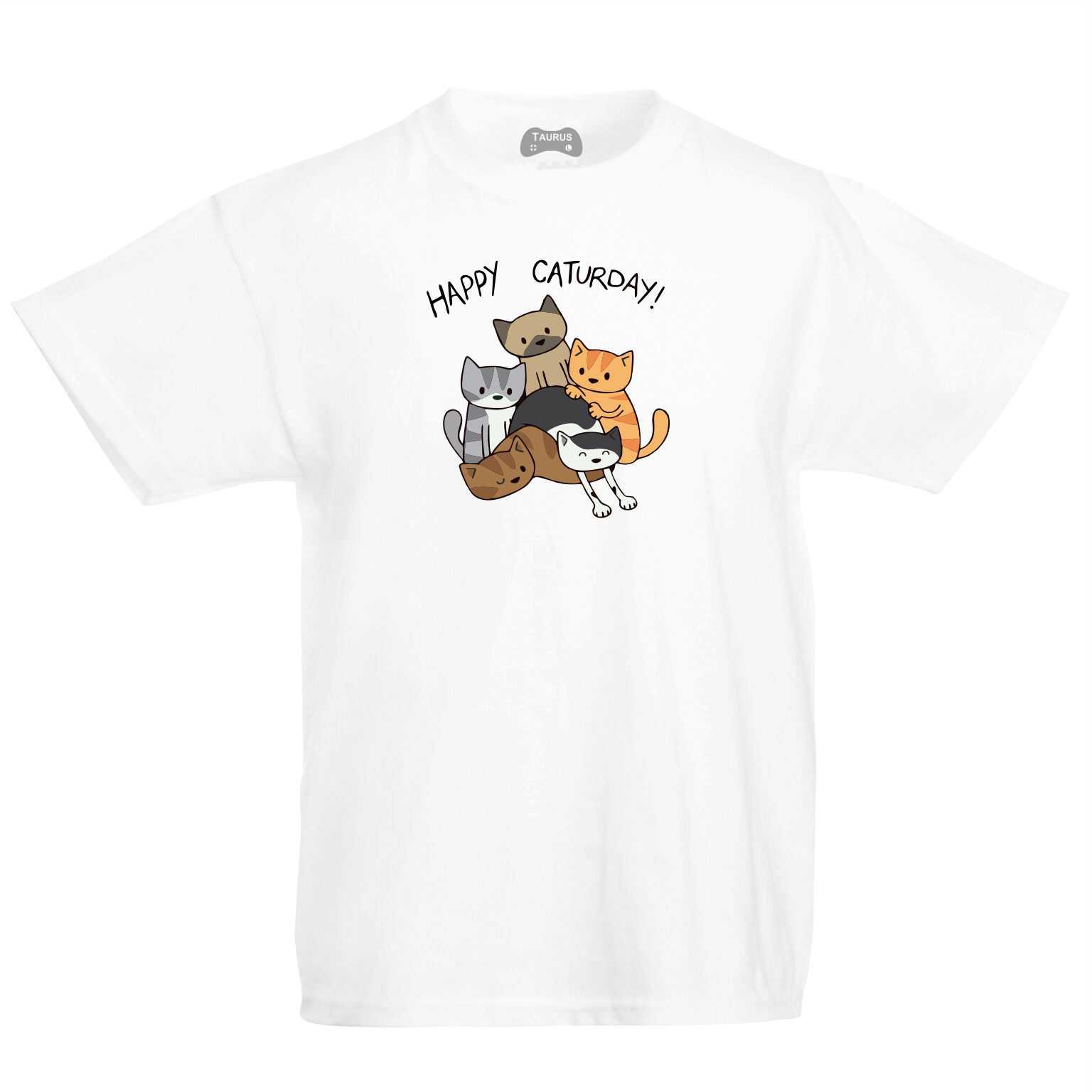 Happy Caturday! Kids T-Shirt