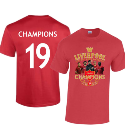 Liverpool League Champions 2019-2020 T Shirt