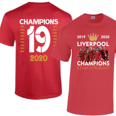 Liverpool League Champions Winners 2019-2020 T Shirt