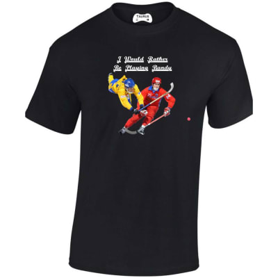 I Would Rather Be Playing Bandy T Shirt